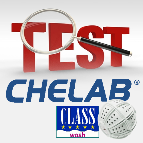WashBall Class, test comparativo Chelab